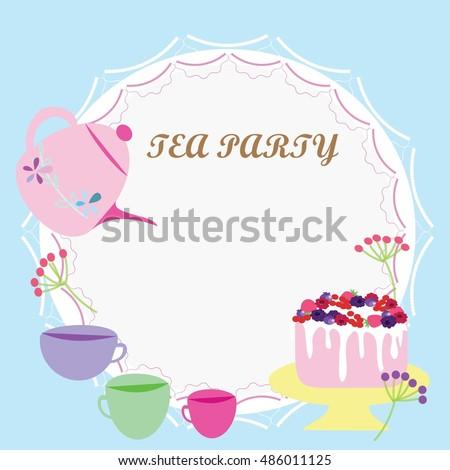 Tea Party Invitation Images RoyaltyFree Images Vectors – Invitation Tea Party