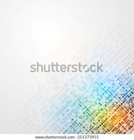 Colorful tech abstract background. Vector design - stock vector