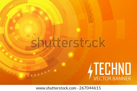 Colorful techno vector background. - stock vector