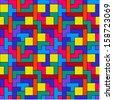 Colorful Tetris Pattern - stock vector