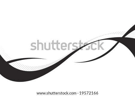 Colorful three dimensional flowing curves layout with plenty of copy space.  This vector is fully customizable. - stock vector