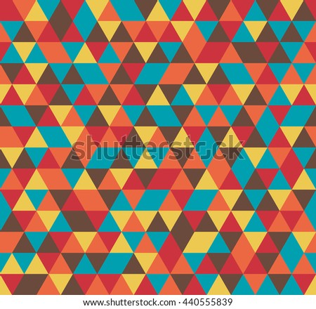 Colorful tile vector background illustration. Triangle geometric mosaic seamless pattern.