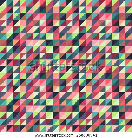 Colorful Triangle Background Vector - stock vector