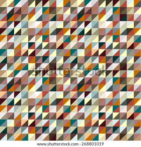 Colorful Triangles Background Vector - stock vector
