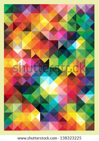 Colorful Triangles Modern Abstract Mosaic Design Pattern - stock vector