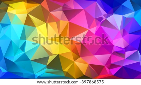 Colorful triangular abstract background. EPS 10 Vector illustration.  - stock vector