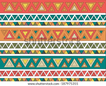 Colorful tribal vector pattern