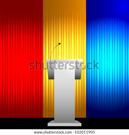 Colorful tribune vector background - stock vector