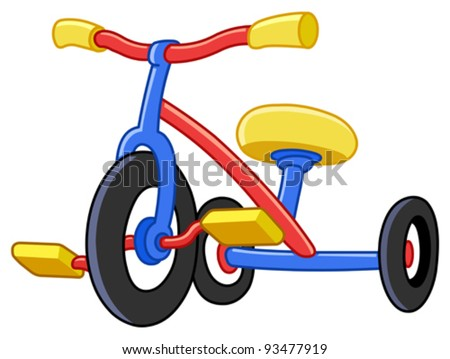 Colorful tricycles - stock vector