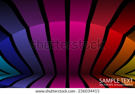 Colorful vector abstract background  template - Vector abstract colorful background illustration - stock vector