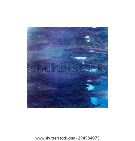 Colorful vector abstract watercolor hand paint texture isolated on white background watercolor textured backdrop