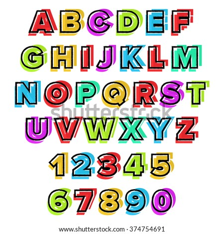 Colorful vector Alphabet. Use for design