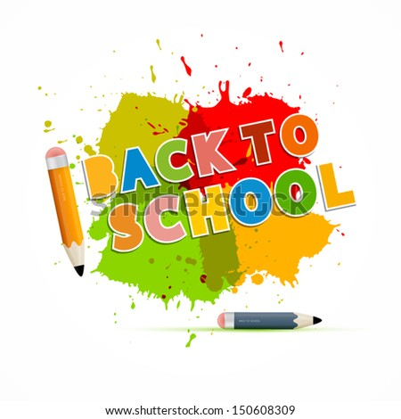 Colorful Vector Back to School Theme - stock vector