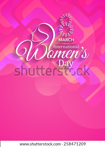 Colorful vector background design for Women's day. - stock vector