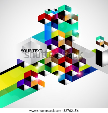 Colorful vector background with place for text. - stock vector
