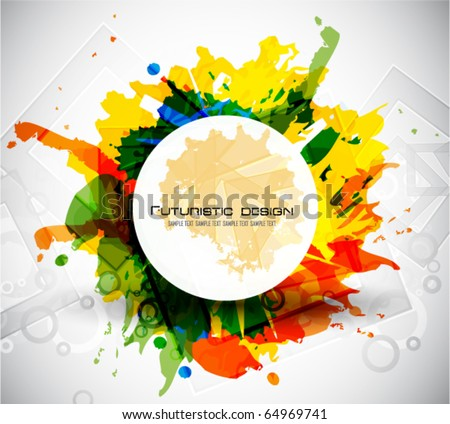 Colorful vector backgrounds - stock vector