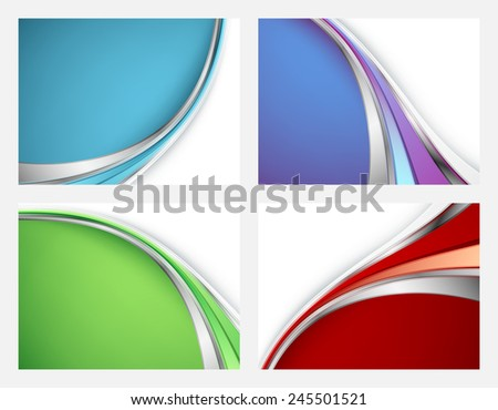 colorful vector backgrounds set with copy space. Eps10 - stock vector