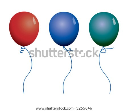 Colorful vector balloons - stock vector