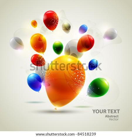 Colorful vector balloons. - stock vector