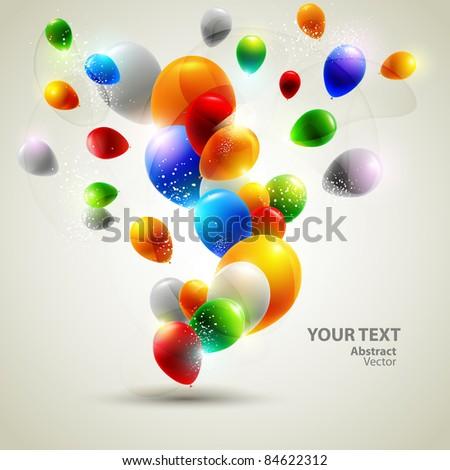 Colorful vector balloons. - stock vector