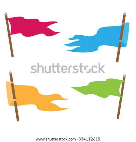 Colorful vector banners and flags - stock vector