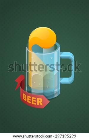 Colorful vector Beer mug - stock vector