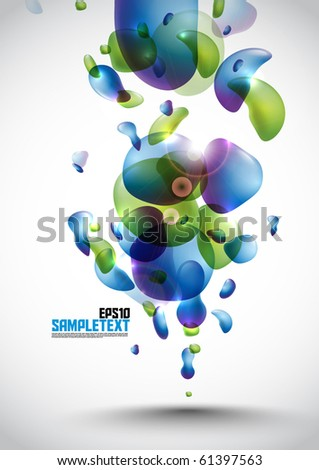 Colorful Vector Bubbles Design - stock vector
