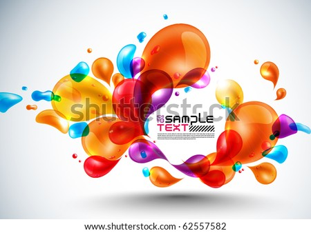 Colorful Vector Bubbles Design - stock vector
