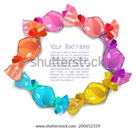 Colorful Vector Candies - stock vector