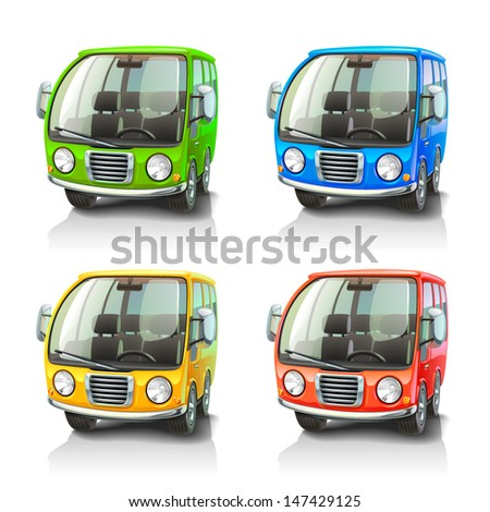 Colorful vector cars - stock vector