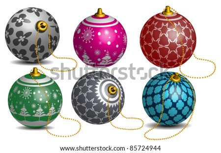 Colorful Vector Christmas bauble - stock vector