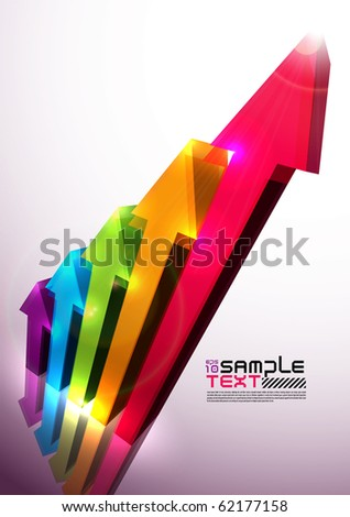 Colorful Vector 3D Histogram - stock vector