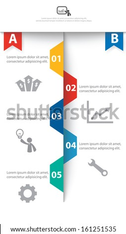 Colorful vector design for workflow layout, diagram, number options, web design, infographics. - stock vector