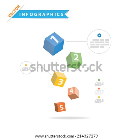 Colorful vector design for workflow layout,presentation template, diagram, number options, web design, infographics. - stock vector