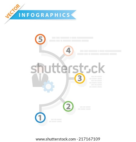 Colorful vector design for workflow layout, presentation template, diagram, number options, web design, infographics. - stock vector