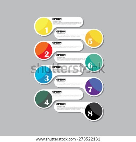 colorful vector design template icon for infographics. this can be used in presentations, brochures, documents, ebooks, etc. - stock vector
