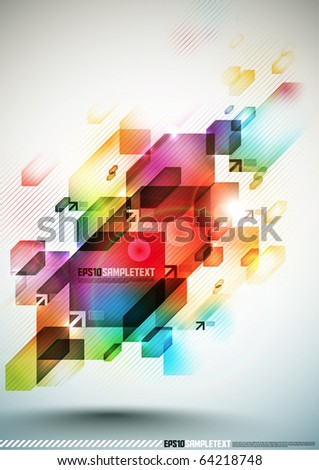Colorful Vector Digital Element - stock vector