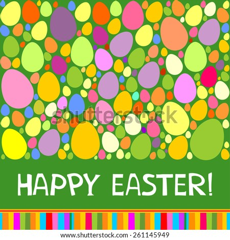 Colorful vector easter card. Vector Illustration