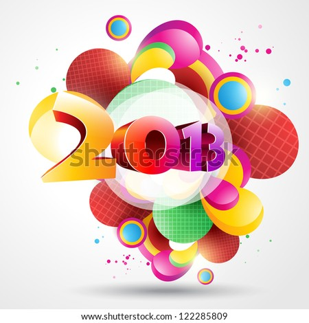 colorful vector happy new year design