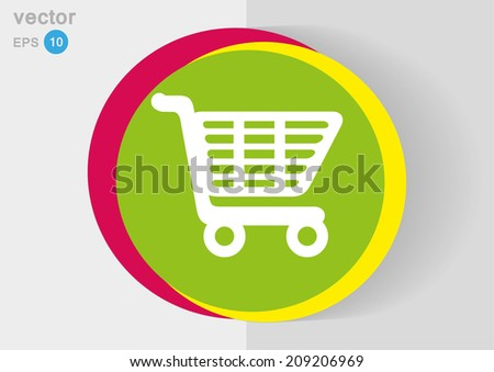 Colorful vector icon - stock vector