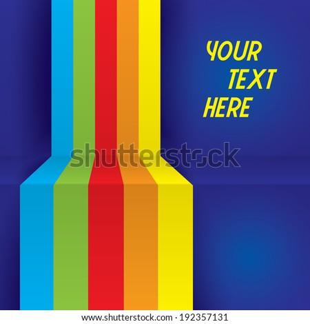 Colorful Vector illustration for your business presentations. Retro lines background - stock vector