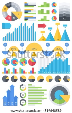 colorful vector infographic - stock vector