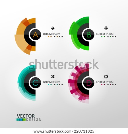 Colorful vector labels - stock vector