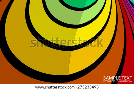 Colorful vector rainbow  background illustration template - Vector colorful abstract twisted background template - stock vector