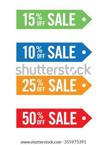 Colorful Vector Sale Tag Set - stock vector