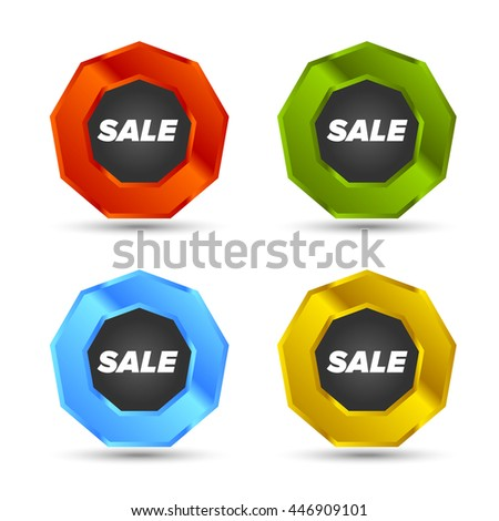 Colorful Vector Sale tags