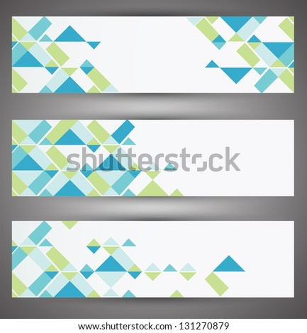 Colorful vector set web banners. Vector - stock vector
