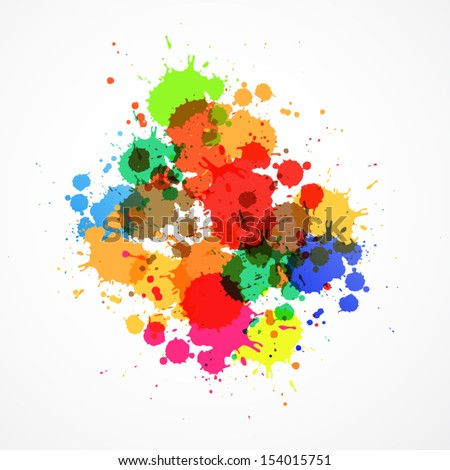 Colorful Vector Splashes Abstract Background  - stock vector