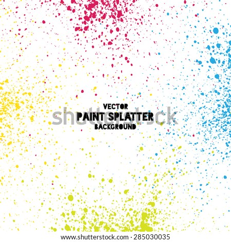 Colorful vector splatter background - stock vector