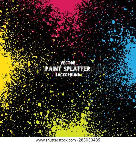 Colorful vector splatter background - stock vector